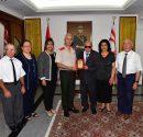 KTEF Başkanı Derviş Yücetürk, yönetim kurulu üye ve temsilcileri Güvenlik Kuvvetleri Komutanı Tuğgeneral Tevfik Algan'a anlamlı ziyarette bulundular.