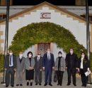Cumhurbaşkanı Ersin Tatar, Derviş Yücetürk başkanlığındaki Kıbrıs Türk Engelliler Federasyonu'nu kabul etti.